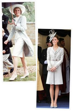 Princess Diana and Kate Middleton's Similar Style  Dove Gray Doubletake