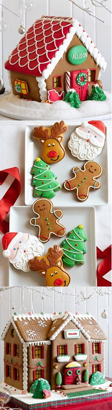 Order your cookie boxes & handmade gingerbread houses by Wed - Delivery Food - Ideas of Delivery Food - Christmas cuteness! Order your cookie boxes & handmade gingerbread houses by Wednesday Dec. for a Christmas delivery! Gingerbread House Parties, Christmas Gingerbread House, Christmas Sweets, Christmas Cooking, Noel Christmas, Christmas Goodies, Winter Christmas, Christmas Crafts, Gingerbread Houses