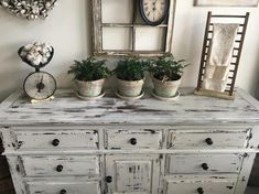 Large Farmhouse 9 Drawer Dresser or Buffet made by Broyhill ~ Chippy White Distressed Furniture SOLD . Large Farmhouse 9 Drawer Dresser or Buffet made by Distressed Bedroom Furniture, Farmhouse Furniture, Rustic Furniture, White Distressed Dresser, Scandinavian Furniture, Furniture Ideas, Kitchen Furniture, Farmhouse Dressers, Furniture Design