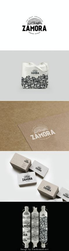 Here you go. Zamora black and white packaging branding curated by Packaging Diva PD