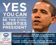 President Obama: Be the Civil Liberties President We Know You Can Be