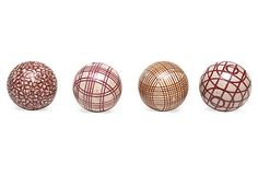 Ceramic carpet balls were used to ship carpets. They helped the item keep its shape and avoided damages; circa 1860.