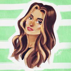 "150 Likes, 2 Comments - ELIANA BOGDAN (@elianabogdan) on Instagram: ""Another beauty 🎨 @sanziananegru #illustration #digitalart #portrait"""