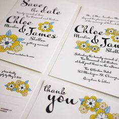 Invitaciones de boda amarillas [Fotos]