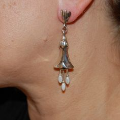 Dangling Earrings, Bridal, Mother of Pearl details, Occasionwear, Elegant…