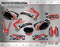 Yamaha YZf 250-450 '06-'09 - Moto-StyleMX - graphics decals kits Yamaha Yzf, Custom Design, Decals, Graphics, Motorbikes, Tags, Graphic Design, Sticker, Decal
