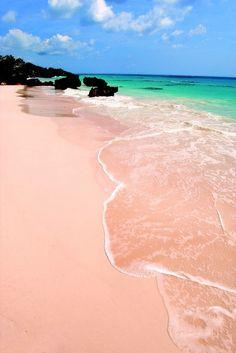 Arena rosa en la isla de Santa Cruz, Basilan, Filipinas