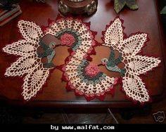 modelo Tapetes de Barbantes com Flores                              …