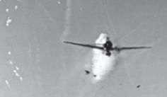 A Japanese 'Zero' is seen nearly head-on as it barrels through the defensive fire of the USS New Mexico. 87 crewmen of the battleship were injured and 29 killed when the Kamikaze struck the bridge, including both the Captain Robert Fleming, and Lt. General Herbert Lumsden, who had been Churchill's representative to MacArthur's command.- Pin it by Gustavo Bueso-Jacquier