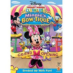 Disney Mickey Mouse Clubhouse: Minnie's Bow-tique DVD | Disney StoreMickey Mouse Clubhouse: Minnie's Bow-tique DVD - Welcome to the grand opening of Minnie's sparkling-new store, packed with the coolest bows and bow ties you've ever seen! If fun and fashion are what you seek, you'll love <i>Minnie's Bow-tique</i>!