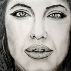 Products by Anita Csernak (Kolormagic) Angelina Jolie, Portraits, Drawings, Sketches, Painting, Products, Art, Art Background, Head Shots