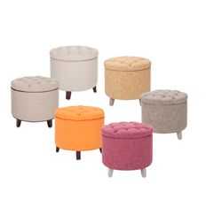 Cute little storage ottomans at Bed, Bath and Beyond