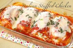 Pinkie for Pink: Italian Stuffed Chicken