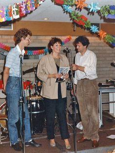 Afscheid Adri de Vries - zomer 1984 Gerard Prins, Adri, Frits Rijksbaron