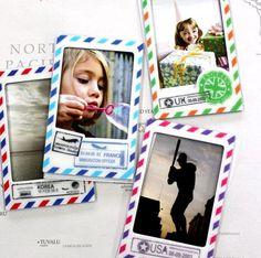 Vintage Stamp Magnet Instax Mini Frame Set