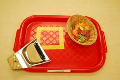 a fall twist on the table sweeping practice tray
