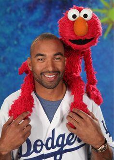 Matt Kemp and Elmo