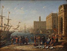 Vue d'un port avec le Capitole by Gelée Louvre INV4712 n01 - Claude Gellée — Wikipédia