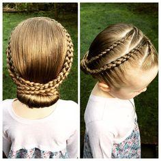 """A closer look at today's style. A recreation of @prettylittlebraids  #PLBrecreation #plaits #peinados #partyhair #prettyhair #kidshair #kidsbraids…"""
