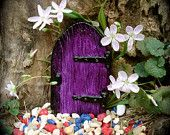 """Fairy Door, Medieval Style,  The Pinching Door"""" - PRE-ORDER -size 2.75"""" L x 1.75"""" - Die Stone Cast. (FRB). $7.00, via Etsy."""