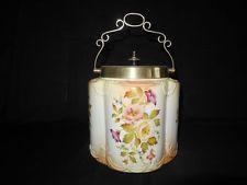 Carlton Ware Stoke on Trent Blush Ivory Floral  Biscuit Barrel