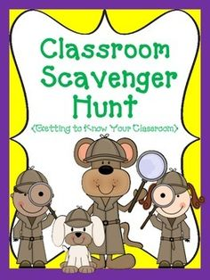 Super cute activity! Have your students become Super Sleuths and Detectives as they use their binoculars to discover and explore their new classroom!