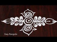 2 simple sides border rangoli designs// Easy Rangolis sides kolams border muggulu easy rangolis latest borders how to draw kolams Thanks for Watching subscri. Rangoli Side Designs, Simple Rangoli Border Designs, Rangoli Designs Latest, Rangoli Borders, Small Rangoli Design, Rangoli Patterns, Rangoli Ideas, Rangoli Designs With Dots, Beautiful Rangoli Designs