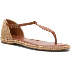 Bernardo Women's Mistral Jute Flats (157 CAD) ❤ liked on Polyvore featuring shoes, sandals, luggage calf, toe thongs, woven flats, toe thong sandals, flats sandals and bernardo shoes