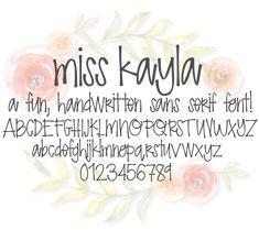 Fonts Alphabet Discover Miss Kate Cuttables Miss Kayla Font Dingbat font Scrapbooking Card Making Paper Crafting Digital Paper