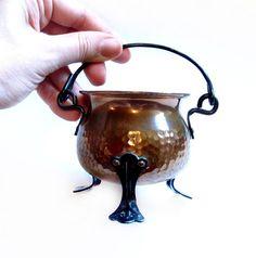 Vintage Hammered Copper Pot, Bowl, Planter