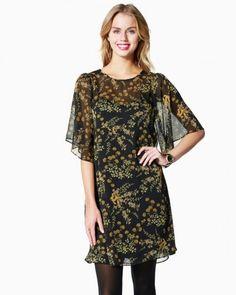 Floral Empire Chiffon Dress | Charming Charlie