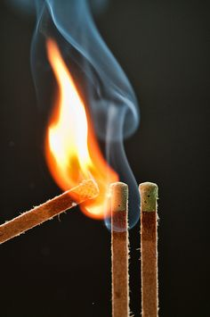 #Three by photoshoparama - Dan, via Flickr #fire #flame #match