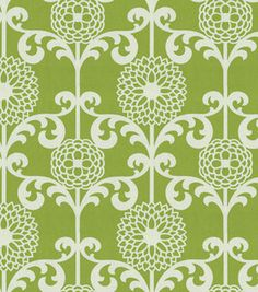 Nursery curtains - Waverly Modern Essentials fun floret, spruce (couldn't find a better photo, it's a slightly darker green and white)