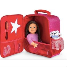 Sparkle Doll Tote for Girls - American Girl Dolls American Girl Accessories, Baby Doll Accessories, Baby Dolls, Girl Dolls, Cosas American Girl, American Girl Doll Room, American Girl Stuff, American Girl House, American Girl Furniture