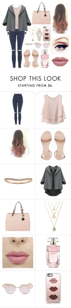 """""""Untitled #140"""" by rebecapaynefarro on Polyvore featuring Topshop, Chicwish, MICHAEL Michael Kors, Elie Saab, Le Specs and Casetify"""