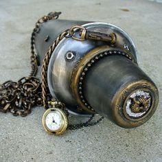 Clutch Purse Gothic Pirate Victorian BOX wallet compass