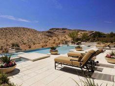 Desert backyard landscaping