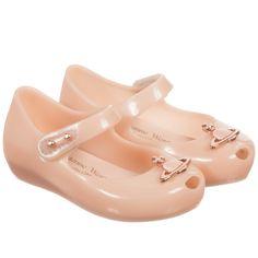 Mini Melissa Girls Pink Vivienne Westwood 'Orb' Jelly Shoes at Childrensalon.com