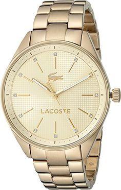 Lacoste Women's 2000898 Philadelphia Analog Display Japanese Quartz Gold Watch -