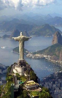 Cristo Redentor en el Cerro de Corcovado. Río de Janeiro, Brasil.