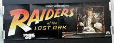 Original Movie Poster RAIDERS OF THE LOST ARK 1981 Indiana Jones Video Rls 36x12