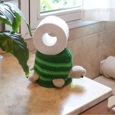 Toilet Paper Cover: Turtle Crochet pattern so adorable and matches our pet turtle!
