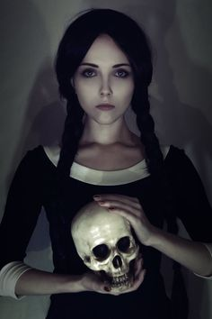 "Skulls:  #Skull ~ ""Wednesday Addams,"" by Helen-Stifler, at deviantART."