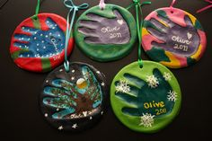 9 Fun DIY Christmas Projects for the Family - salt dough handprint ornaments Kids Crafts, Christmas Crafts For Kids, Christmas Activities, Diy Christmas Ornaments, Christmas Projects, Winter Christmas, Holiday Crafts, Holiday Fun, Christmas Holidays