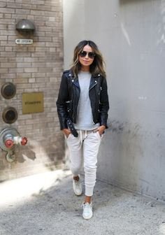 So Lux. | Sincerely Jules http://shopsincerelyjules.com/collections/bottoms/products/lux-joggers-washed-black http://shopsincerelyjules.com/collections/sweatshirts/products/cara-short-sleeve-sweatshirt-snow