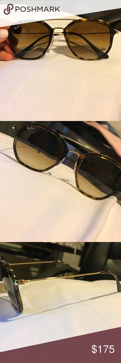 Raybans turtle shell sunglasses •worn a handful of times •No scratches or dents •Great condition •comes with Raybans case and glass cleaner Ray-Ban Accessories Sunglasses