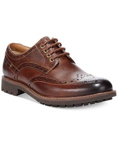 Clarks Montacute Lord Wing-Tip Oxfords