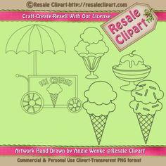 Lil Ice Cream #Digital #Stamp