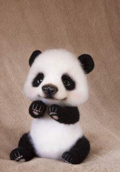 Needle Felted panda By Vitaliya Kozhevnikova - Bear Pile