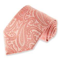 mens coral clara paisley tie solidcolornecktiescom note have in skinny tie too